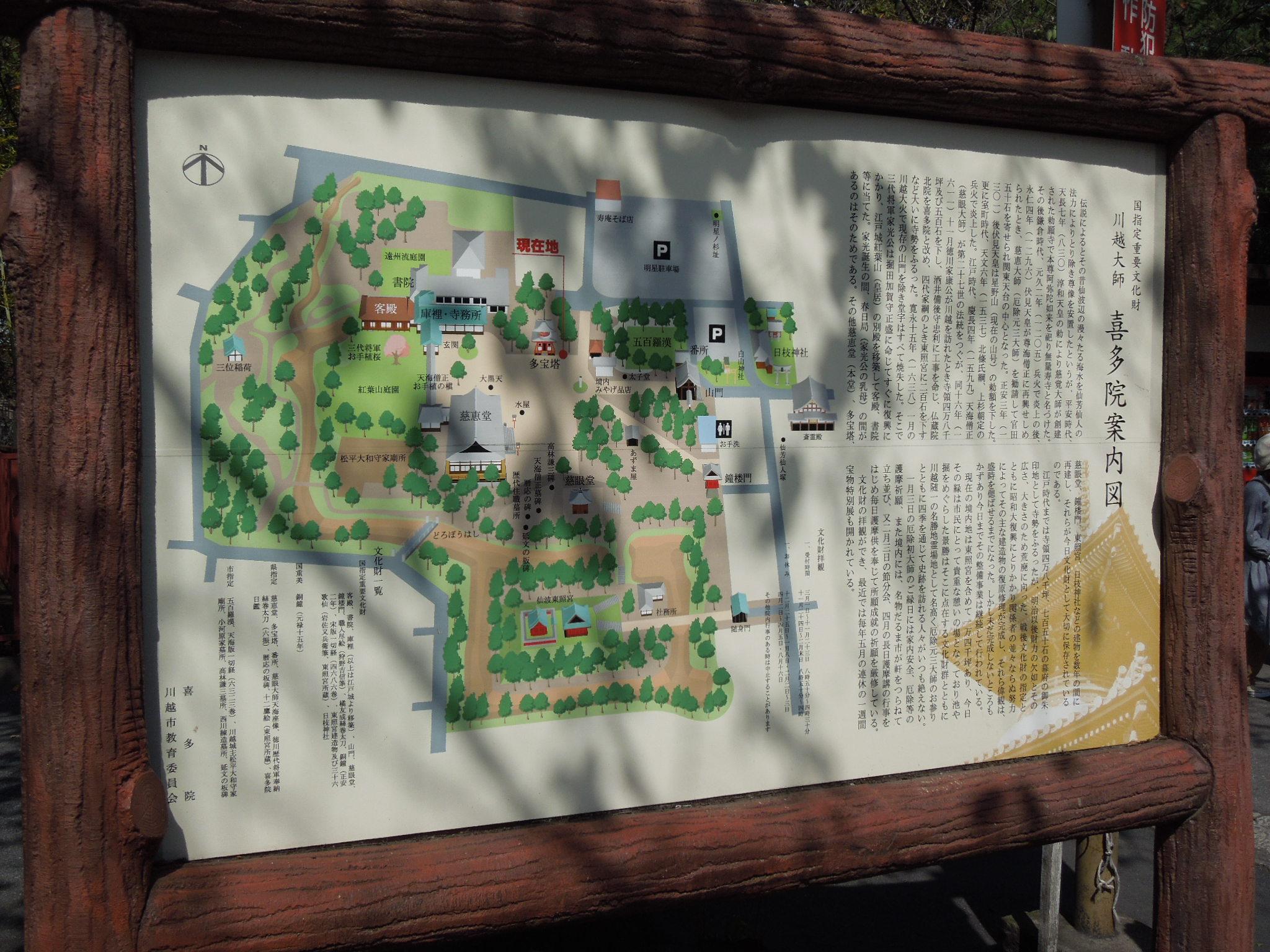 喜多院の案内図